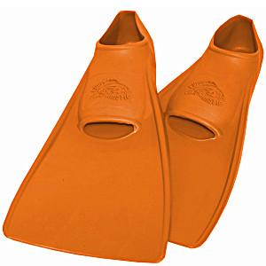 Ласты SwimSafe детские закрытая пятка для бассейна резиновые размер – 26 оранжевые СВИМСЕЙФ Германия